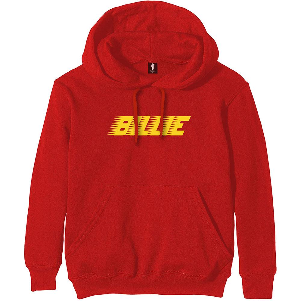 Billie Eilish - Mikina Racer Logo - Muž, Unisex, Červená, XL