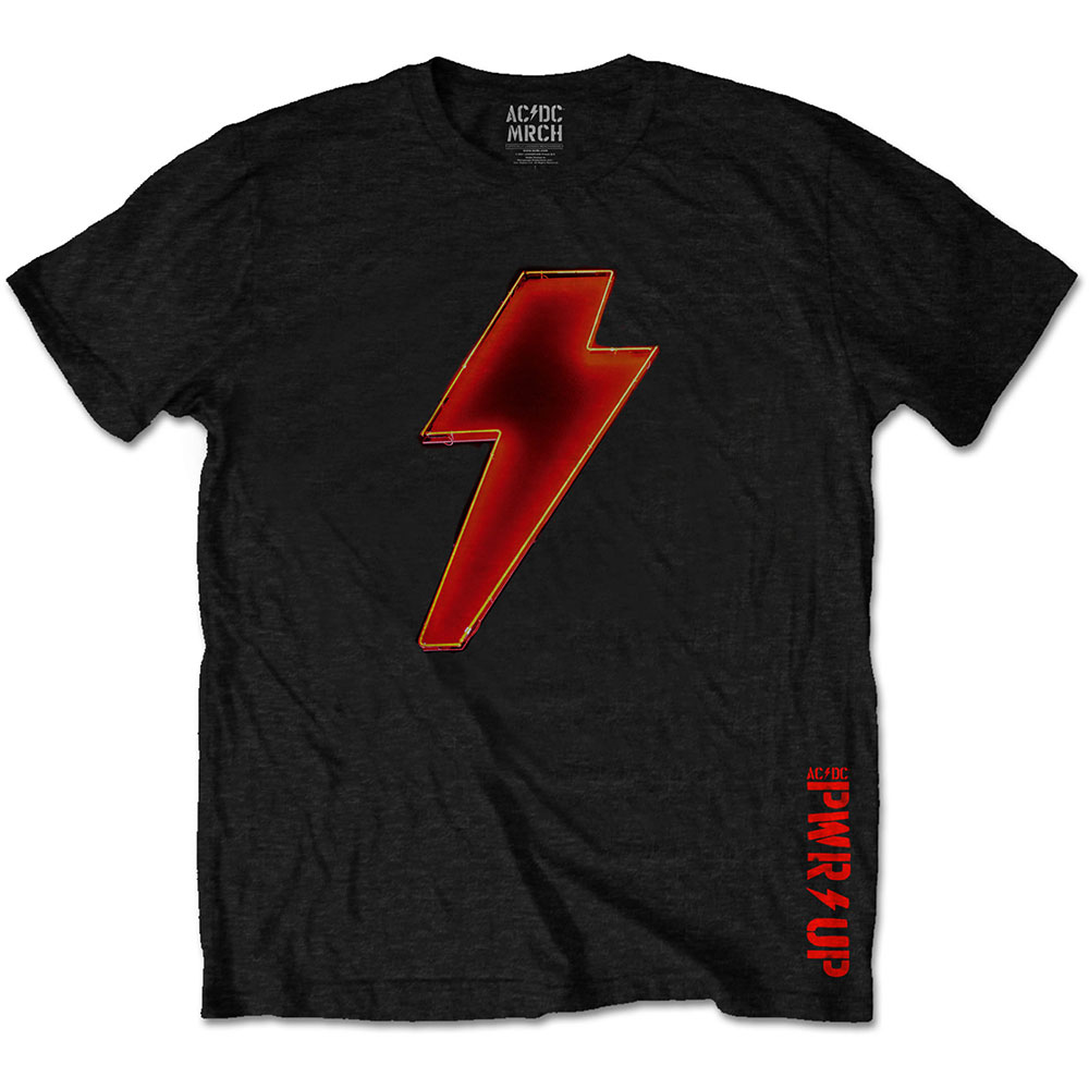 AC/DC - Tričko Bolt Logo - Muž, Unisex, Čierna, XL