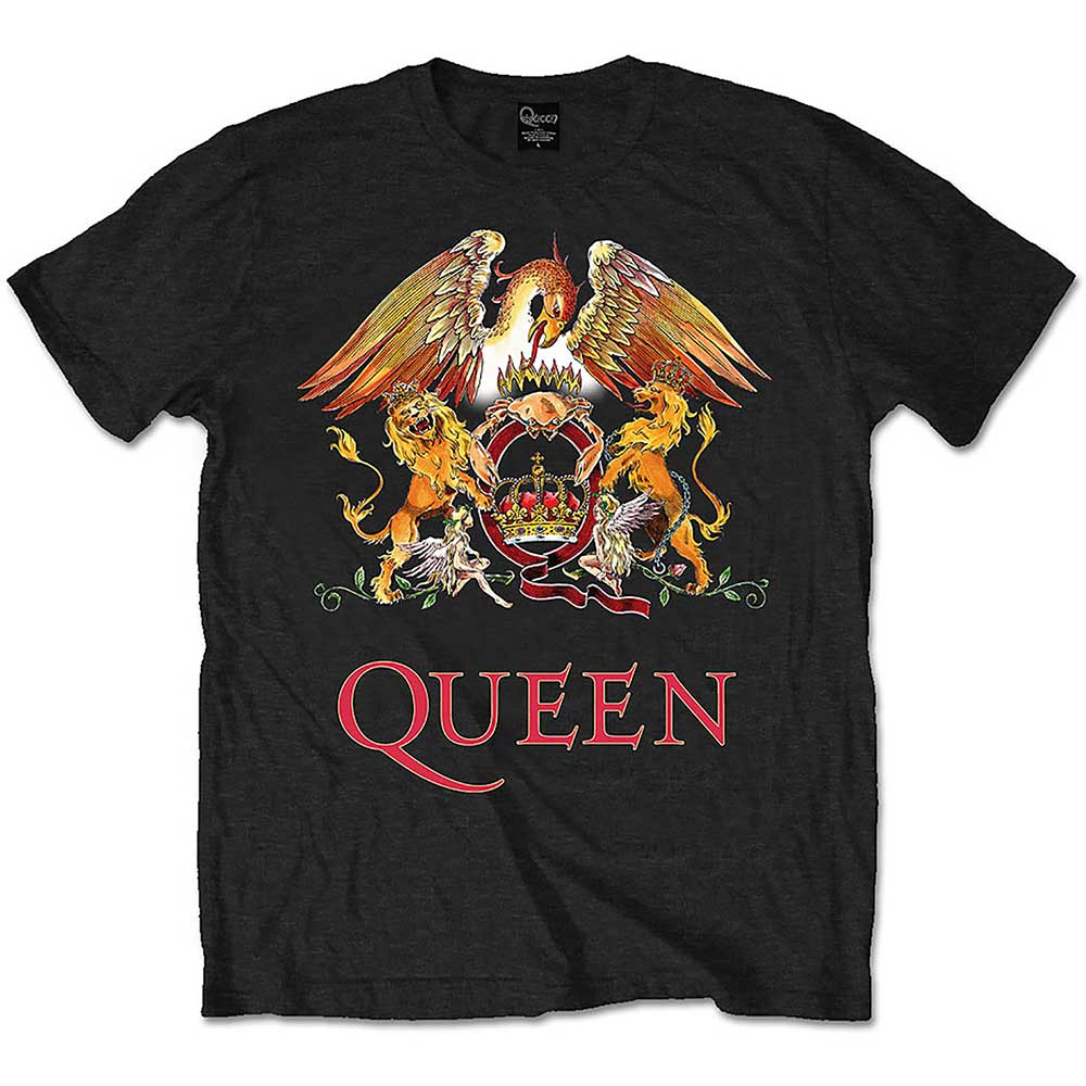 Queen - Tričko Classic Crest - Muž, Unisex, Čierna, XXL