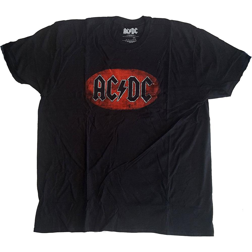 AC/DC - Tričko Oval Logo Vintage - Muž, Unisex, Čierna, XL