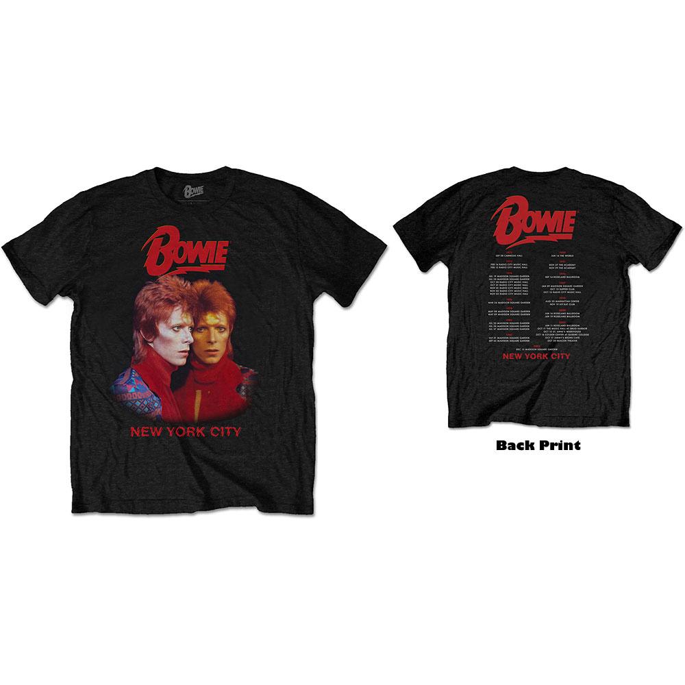 David Bowie - Tričko New York City - Muž, Unisex, Čierna, M