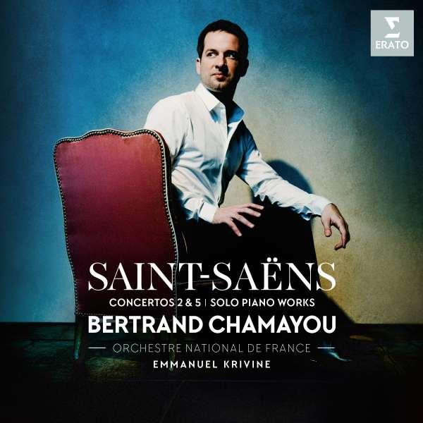 CD CHAMAYOU/ORCHESTRE NATIONALE DE FRANCE/KRIVINE - SAINT-SAENS: PIANO CONCERTOS NOS. 2 & 5, PIECES FOR SOLO PIANO
