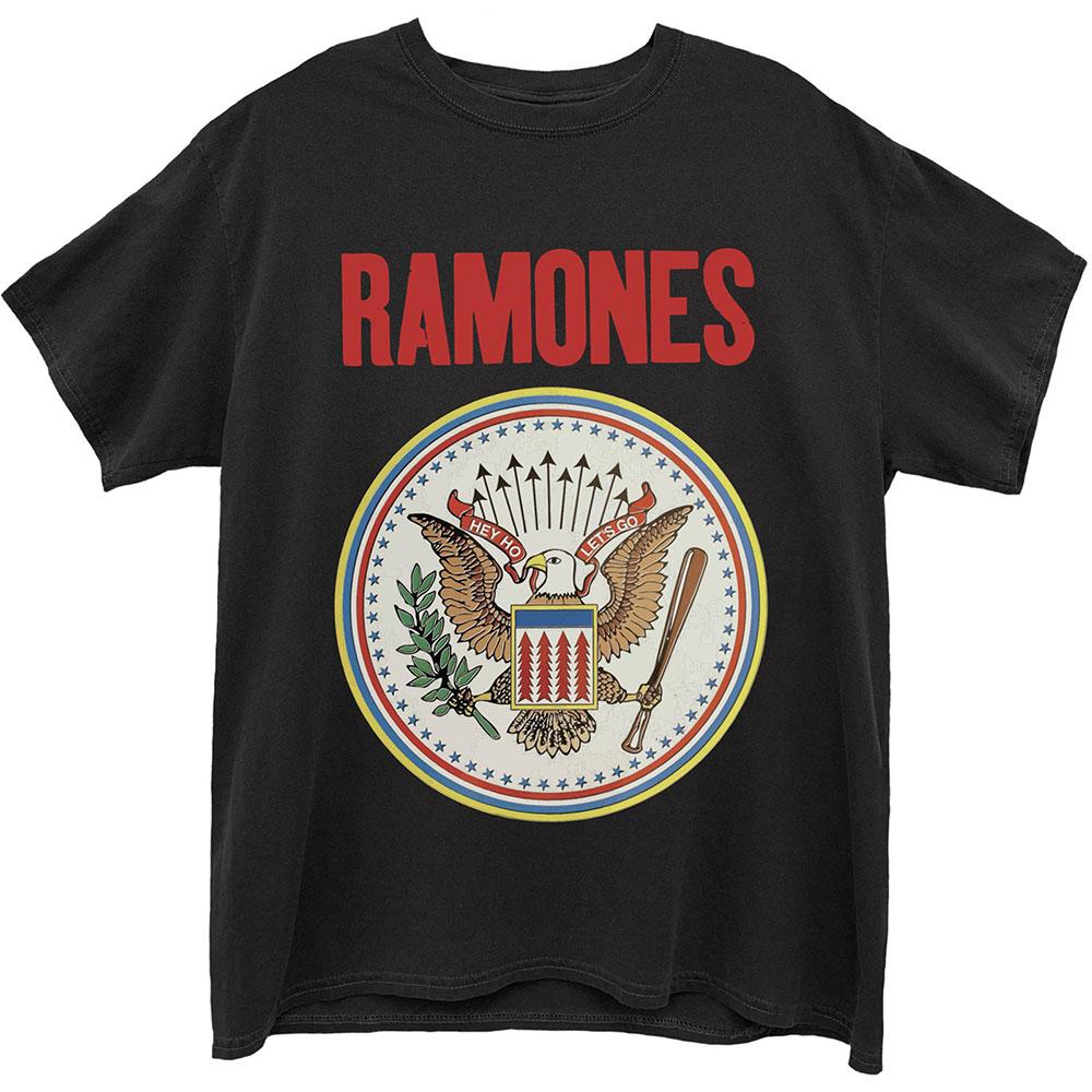 Ramones - Tričko Full Colour Seal - Muž, Unisex, Čierna, XXL