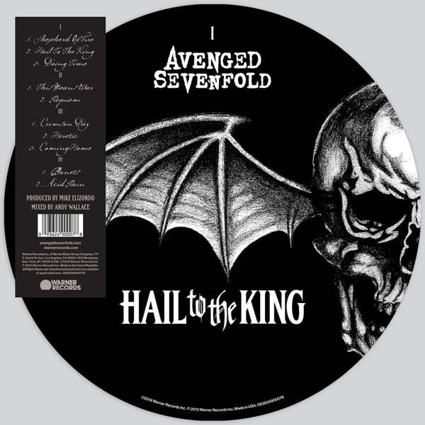 Avenged Sevenfold A7X - Vinyl HAIL TO THE KING (PICTURE VINYL)