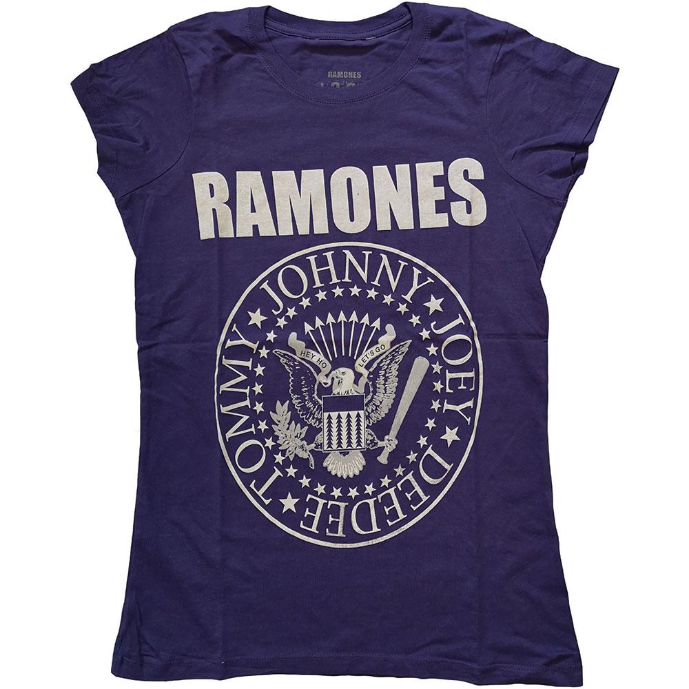 Ramones - Tričko Presidential Seal - Žena, Fialová, XL