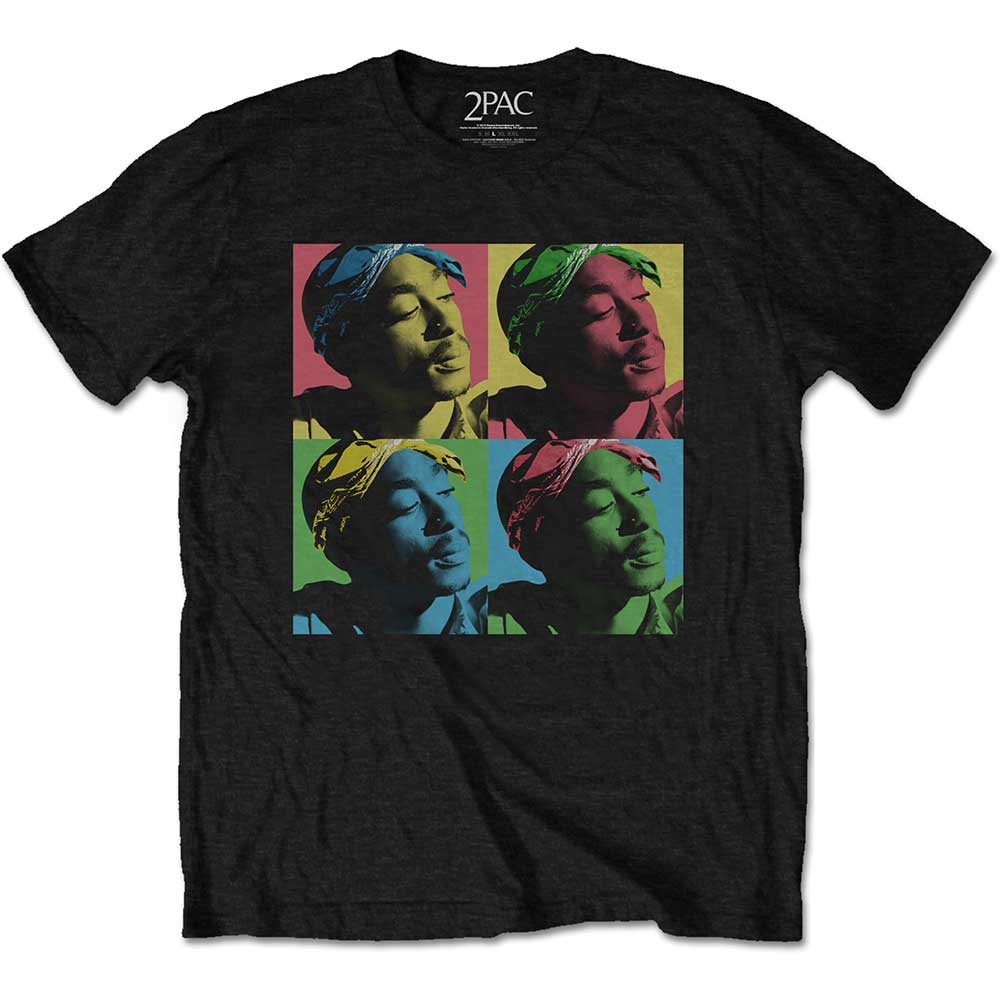 2Pac - Tričko Pop Art - Muž, Unisex, Čierna, S