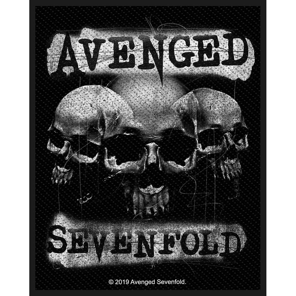 Avenged Sevenfold A7X - Nažehlovačka 3 Skulls