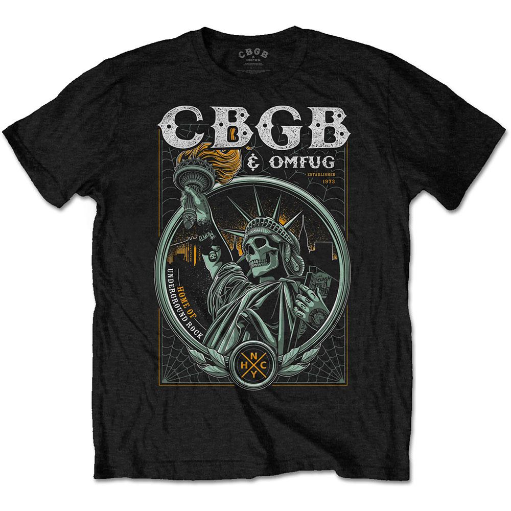 CBGB - Tričko Liberty - Muž, Unisex, Čierna, S