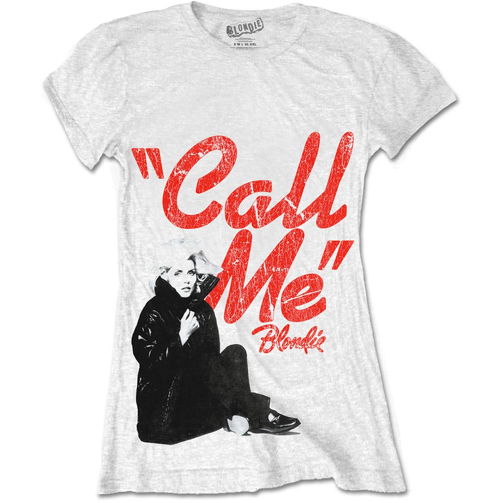 Blondie - Tričko Call Me - Žena, Biela, XL