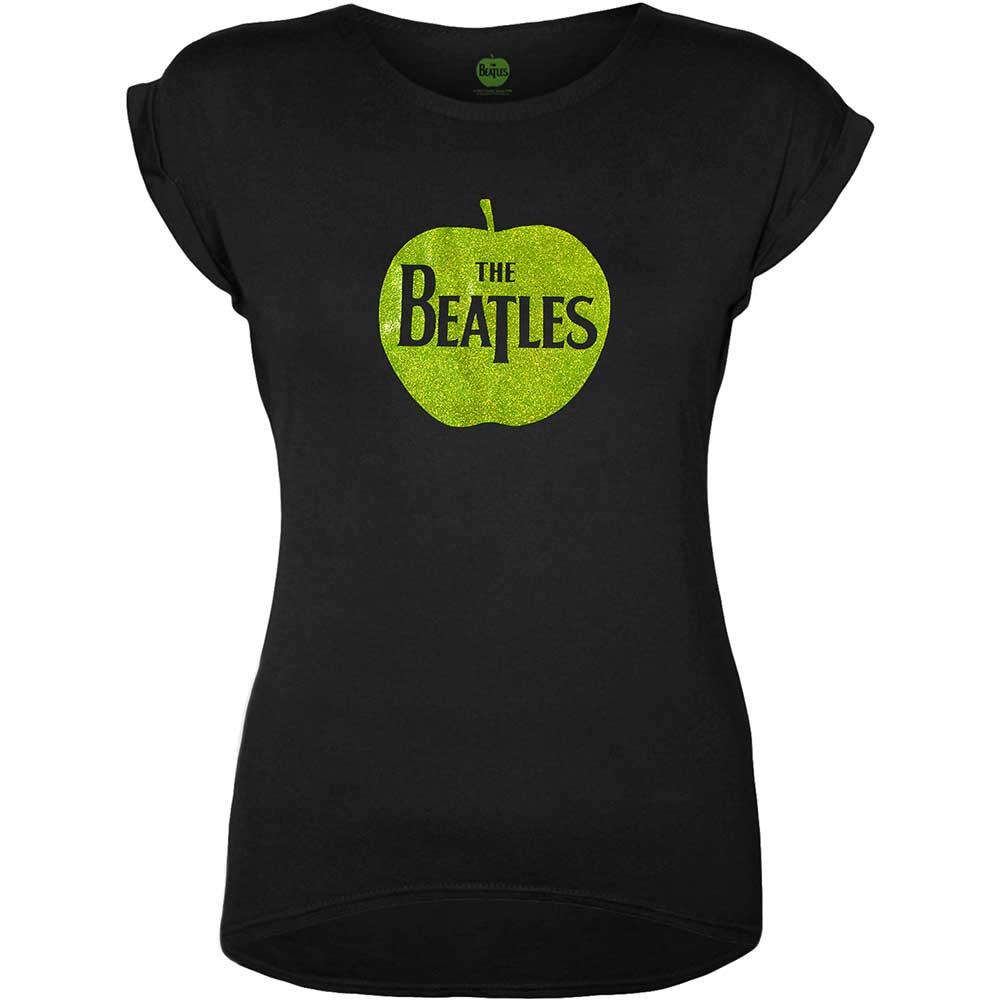 The Beatles - Tričko Apple Logo - Žena, Čierna, S