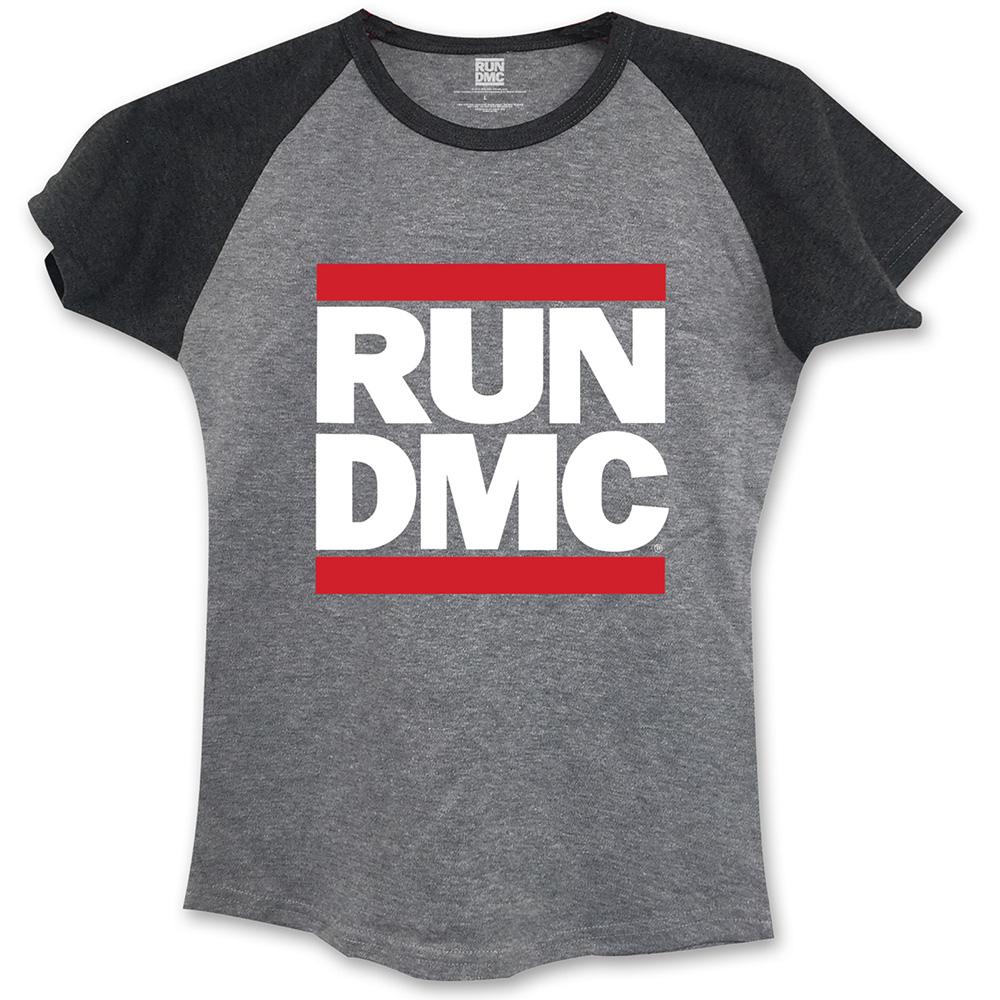 Run-DMC - Tričko Logo - Žena, Šedá, L