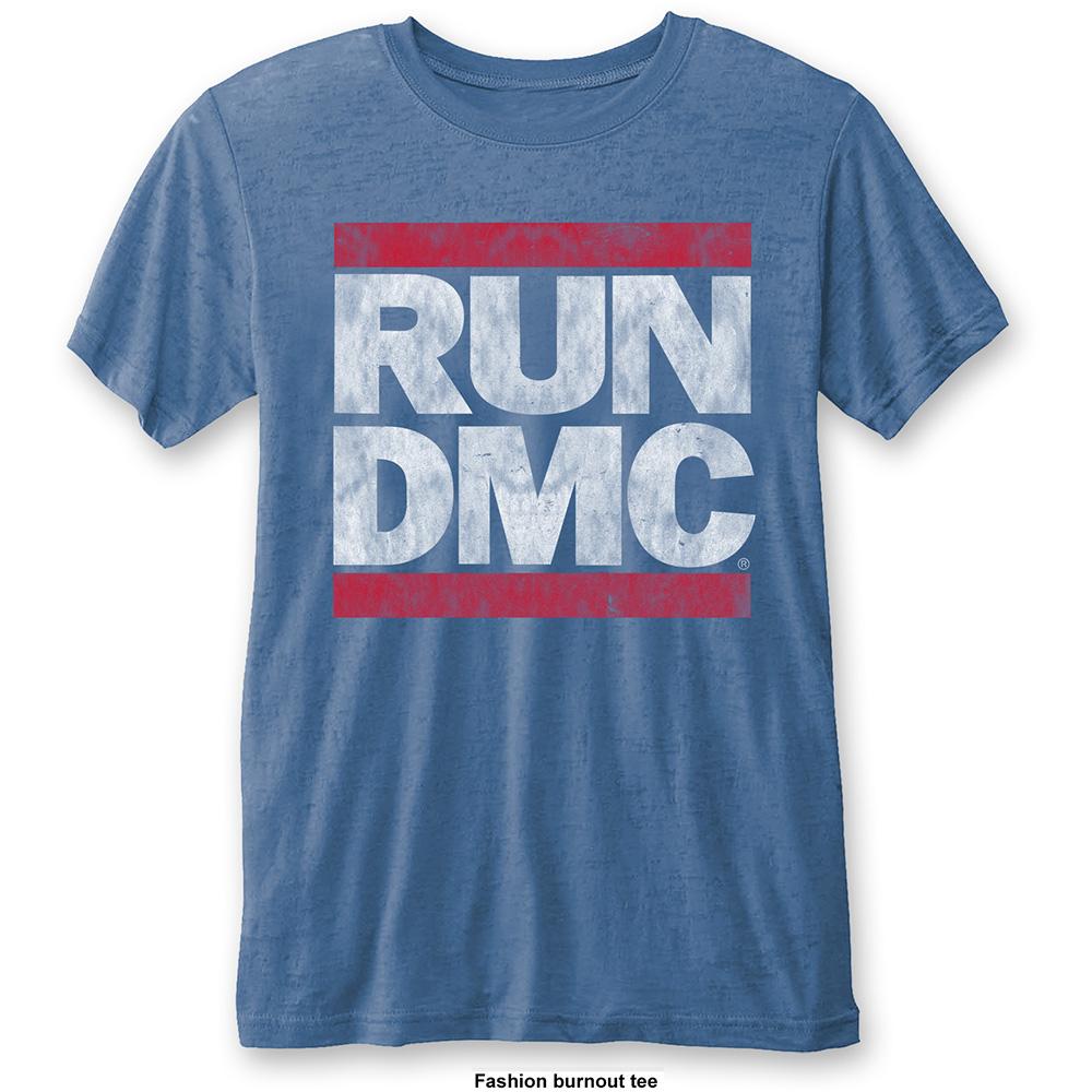 Run-DMC - Tričko Vintage Logo - Muž, Unisex, Modrá, XL