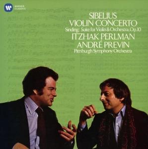 CD PERLMAN, ITZHAK/ PSO/ANDRE PREVIN - SIBELIUS: VIOLIN CONCERTO, SINDING: SUITE IN A MINOR, OP. 10