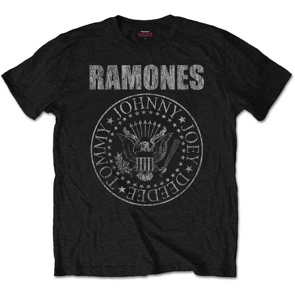 Ramones - Tričko Presidential Seal - Muž, Unisex, Čierna, XXL