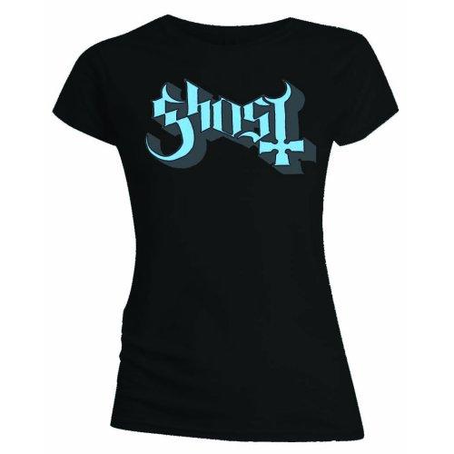 Ghost - Tričko Blue/Grey Keyline Logo - Žena, Čierna, M