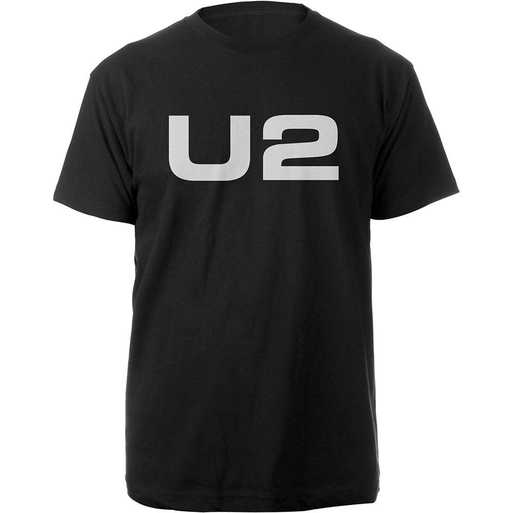 U2 - Tričko Logo - Muž, Unisex, Čierna, L