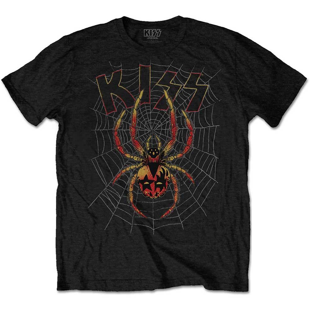 Kiss - Tričko Spider - Muž, Unisex, Čierna, XXL