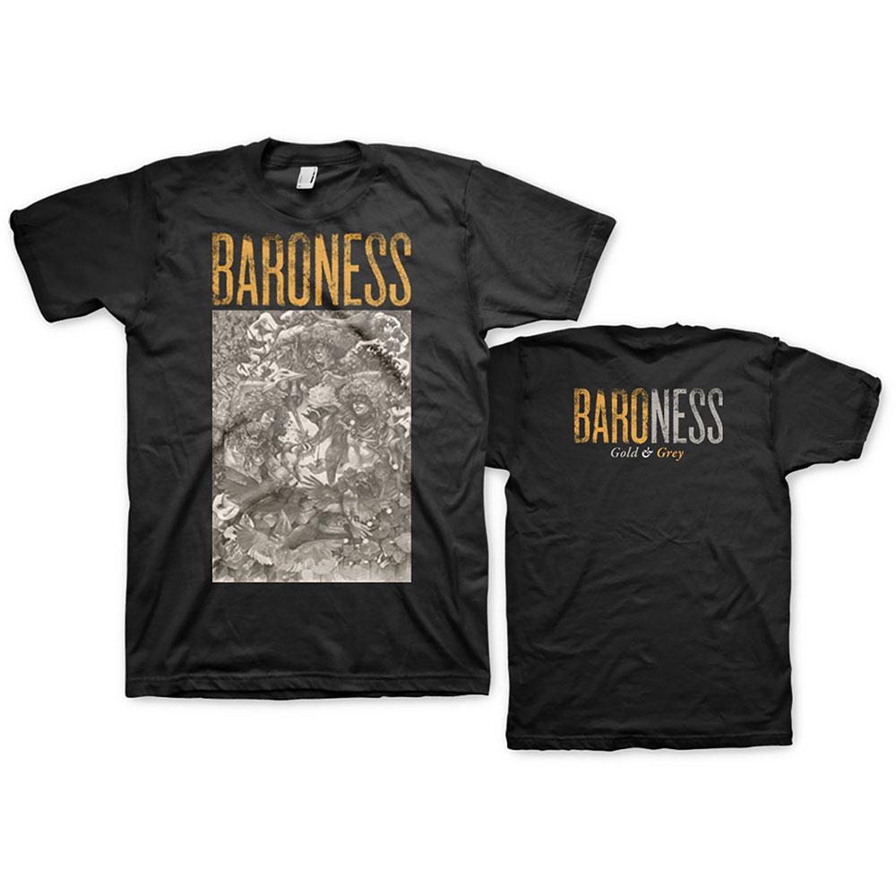 Baroness - Tričko Gold & Grey - Muž, Unisex, Čierna, XL