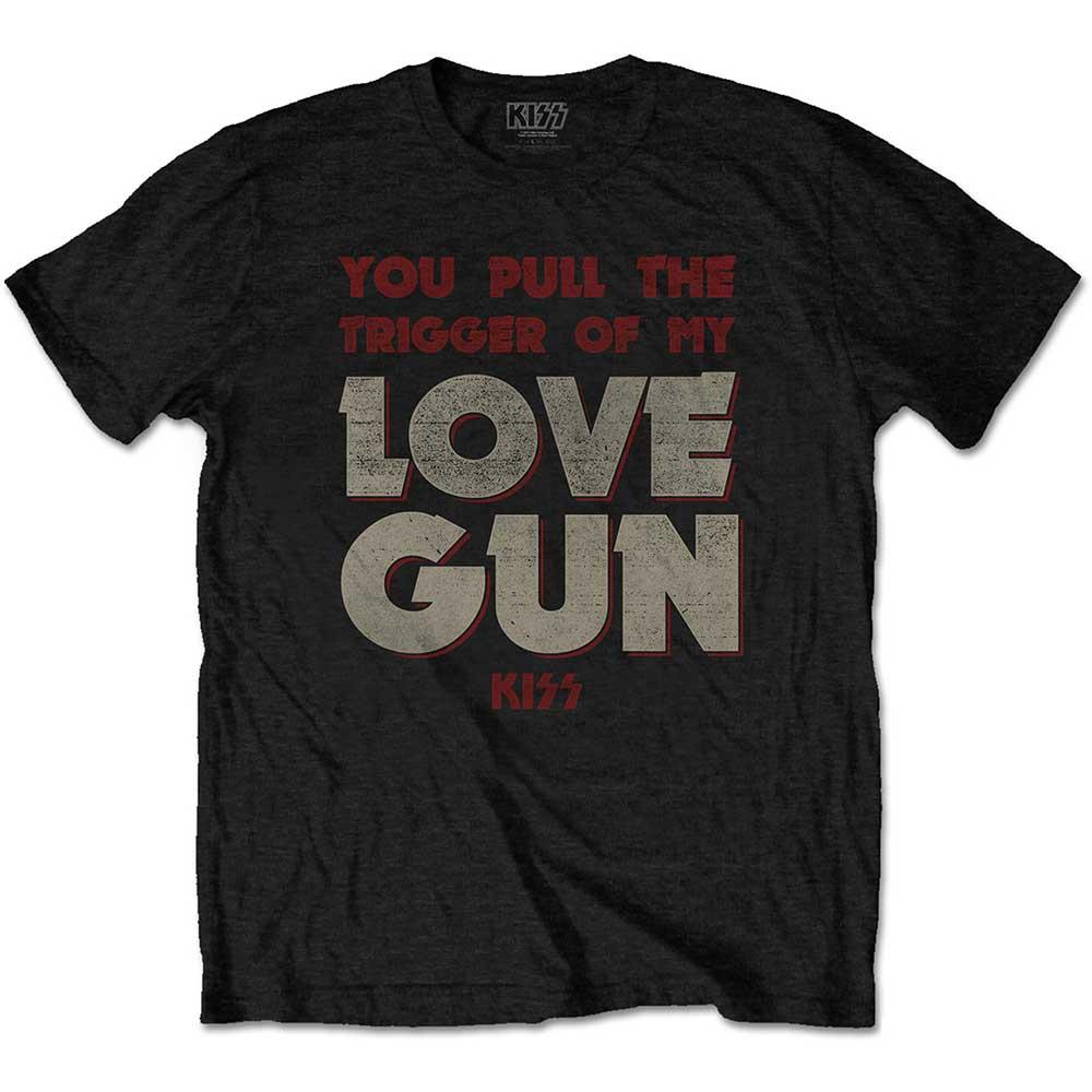 Kiss - Tričko Pull The Trigger - Muž, Unisex, Čierna, XXL
