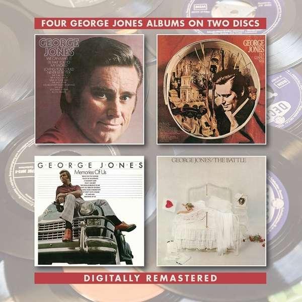 CD JONES, GEORGE - GEORGE JONES/IN A GOSPEL WAY/MEMORIES OF US /THE BATTLE