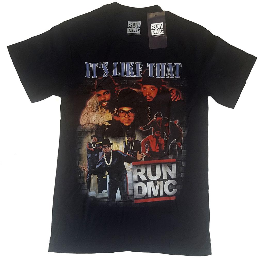 Run-DMC - Tričko It's Like That Homage - Muž, Unisex, Čierna, M