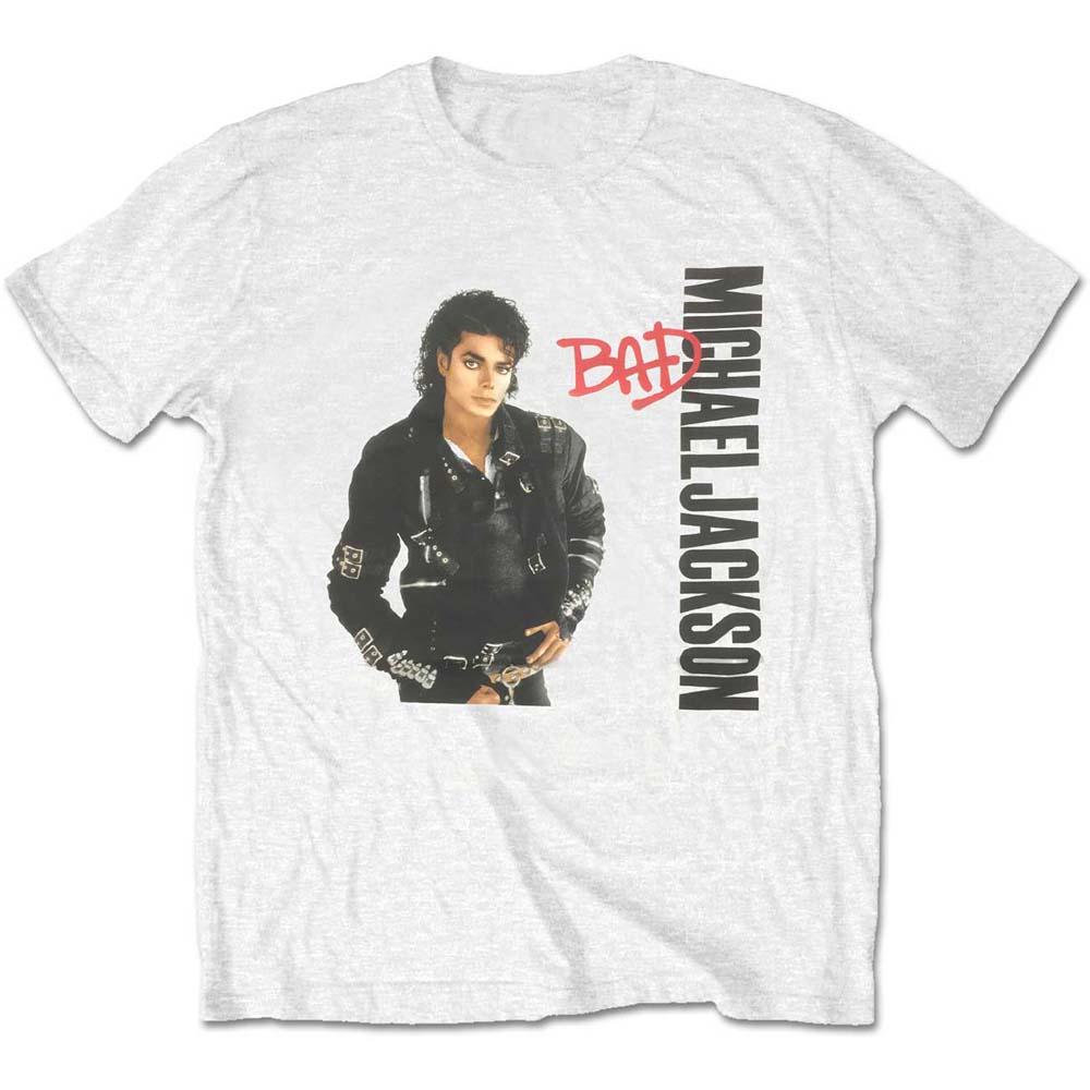 Michael Jackson - Tričko Bad - Muž, Unisex, Biela, XL