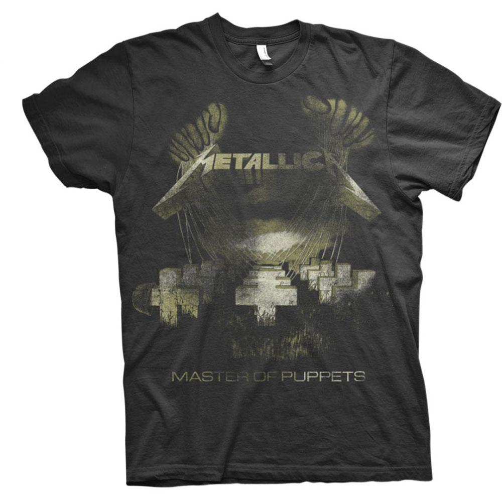 Metallica - Tričko Master of Puppets Distressed - Muž, Unisex, Čierna, S