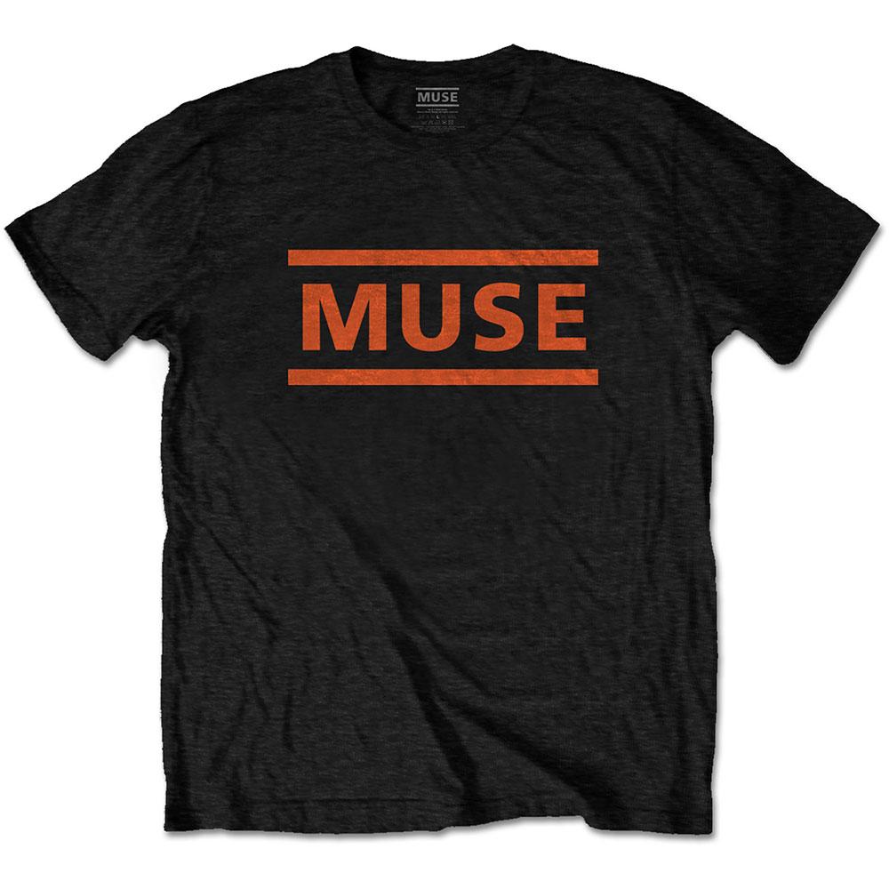Muse - Tričko Orange Logo - Muž, Unisex, Čierna, L