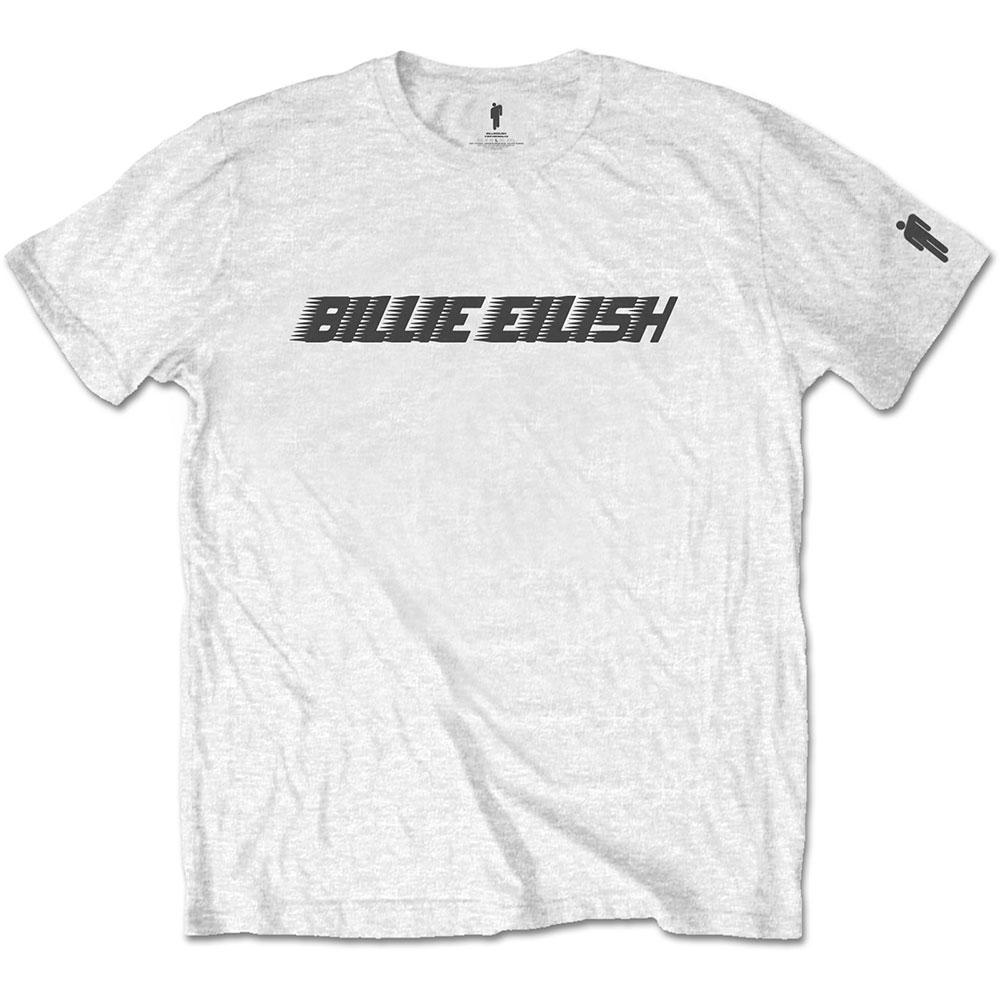 Billie Eilish - Tričko Black Racer Logo - Muž, Unisex, Biela, XXL
