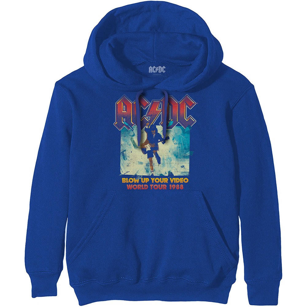 AC/DC - Mikina Blow Up Your Video - Muž, Unisex, Modrá, XL