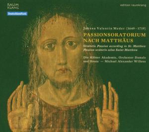CD MEDER, J.V. - PASSIONSORATORIUM NACH MATTHAUS