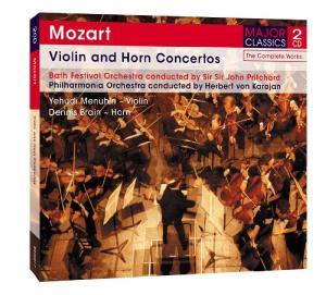 CD MOZART, W.A. - VIOLIN AND HORN CONCERTOS