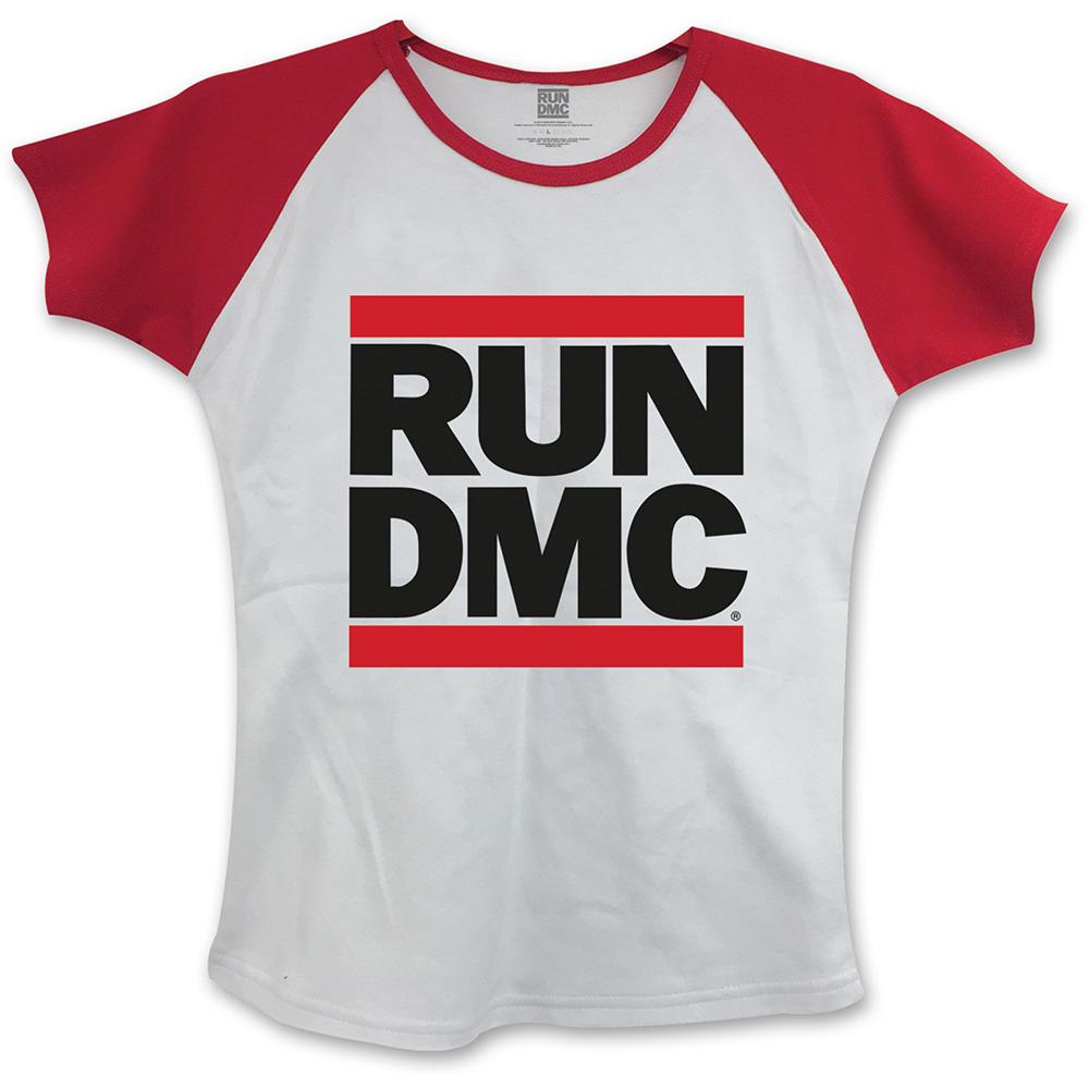 Run-DMC - Tričko Logo - Žena, Biela, L