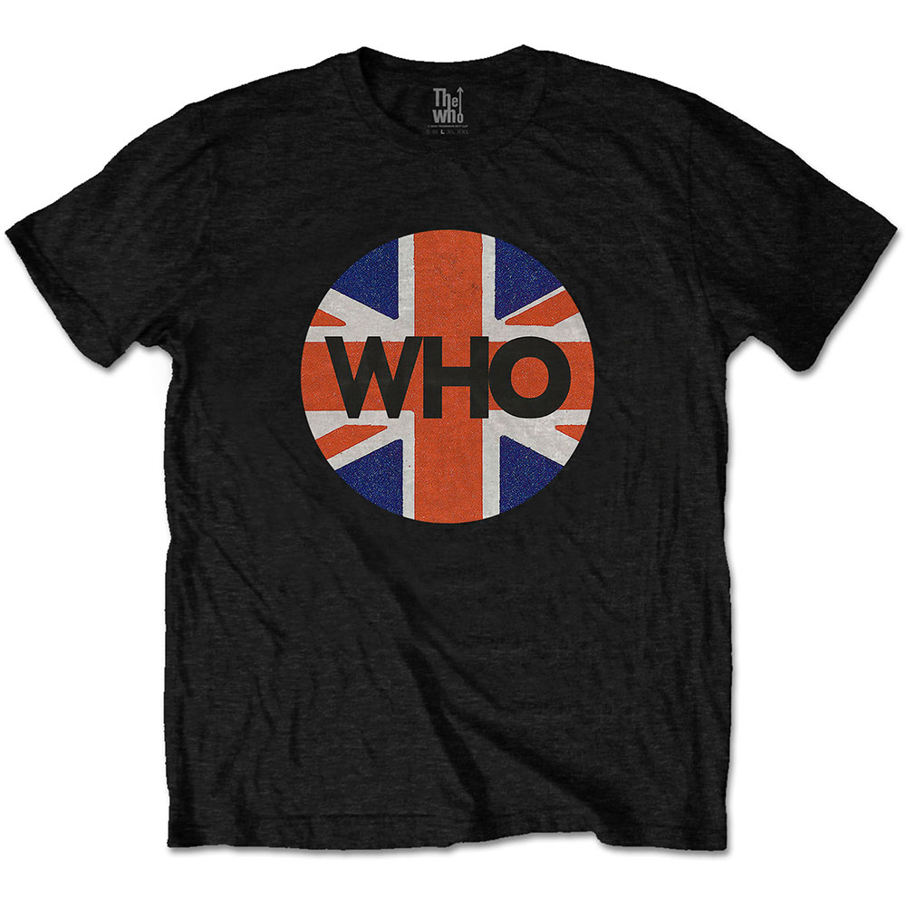 The Who - Tričko Union Jack Circle - Muž, Unisex, Čierna, S