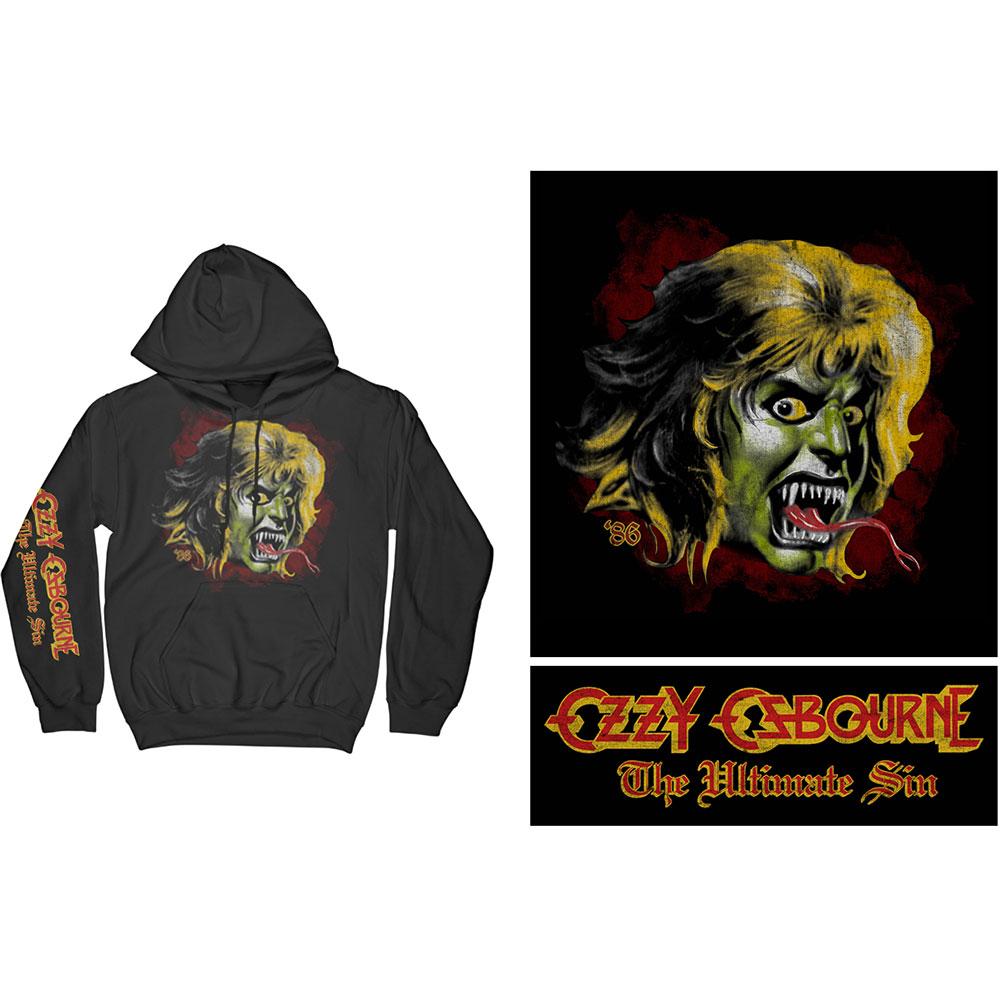 Ozzy Osbourne - Mikina Ozzy Demon - Muž, Unisex, Čierna, XL
