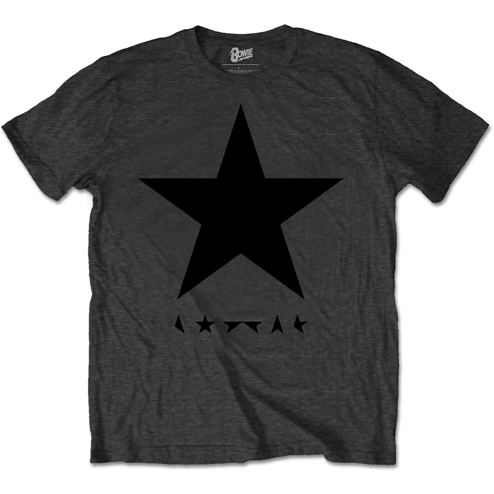 David Bowie - Tričko Blackstar (on Grey) - Muž, Unisex, Šedá, XL