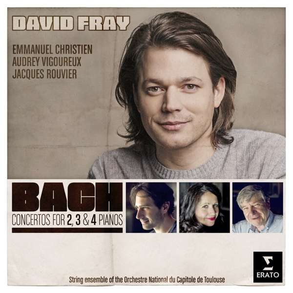 CD FRAY/ROUVIER/CHRISTIEN/VIGOUREUX/TOULOUSE ORCHESTRA SOLOISTS - BACH CONCERTOS FOR 2, 3, AND 4 PIANOS