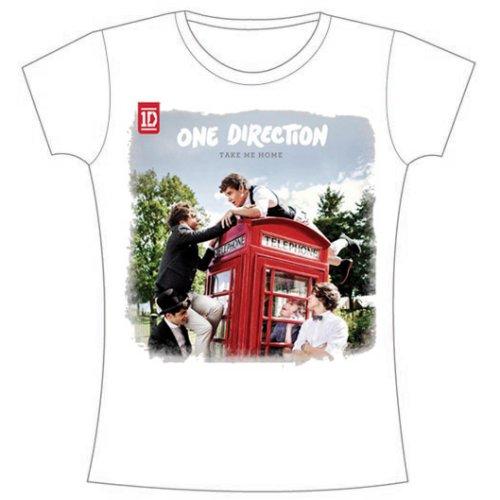 One Direction - Tričko Take Me Home Rough Edges - Žena, Biela, XL