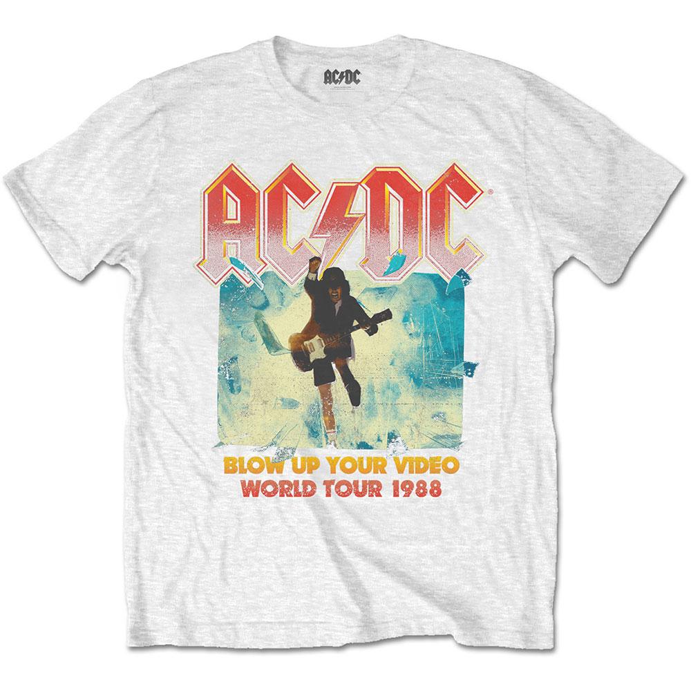 AC/DC - Tričko Blow Up Your Video - Muž, Unisex, Biela, XL
