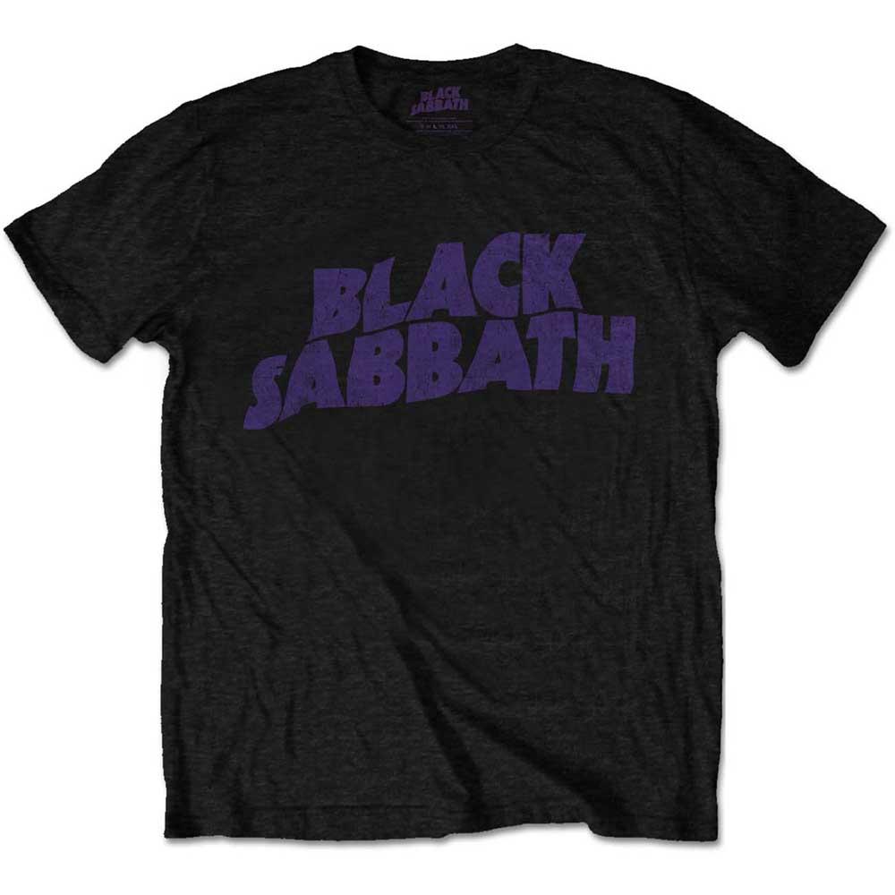 Black Sabbath - Tričko Wavy Logo Vintage - Muž, Unisex, Čierna, XXL