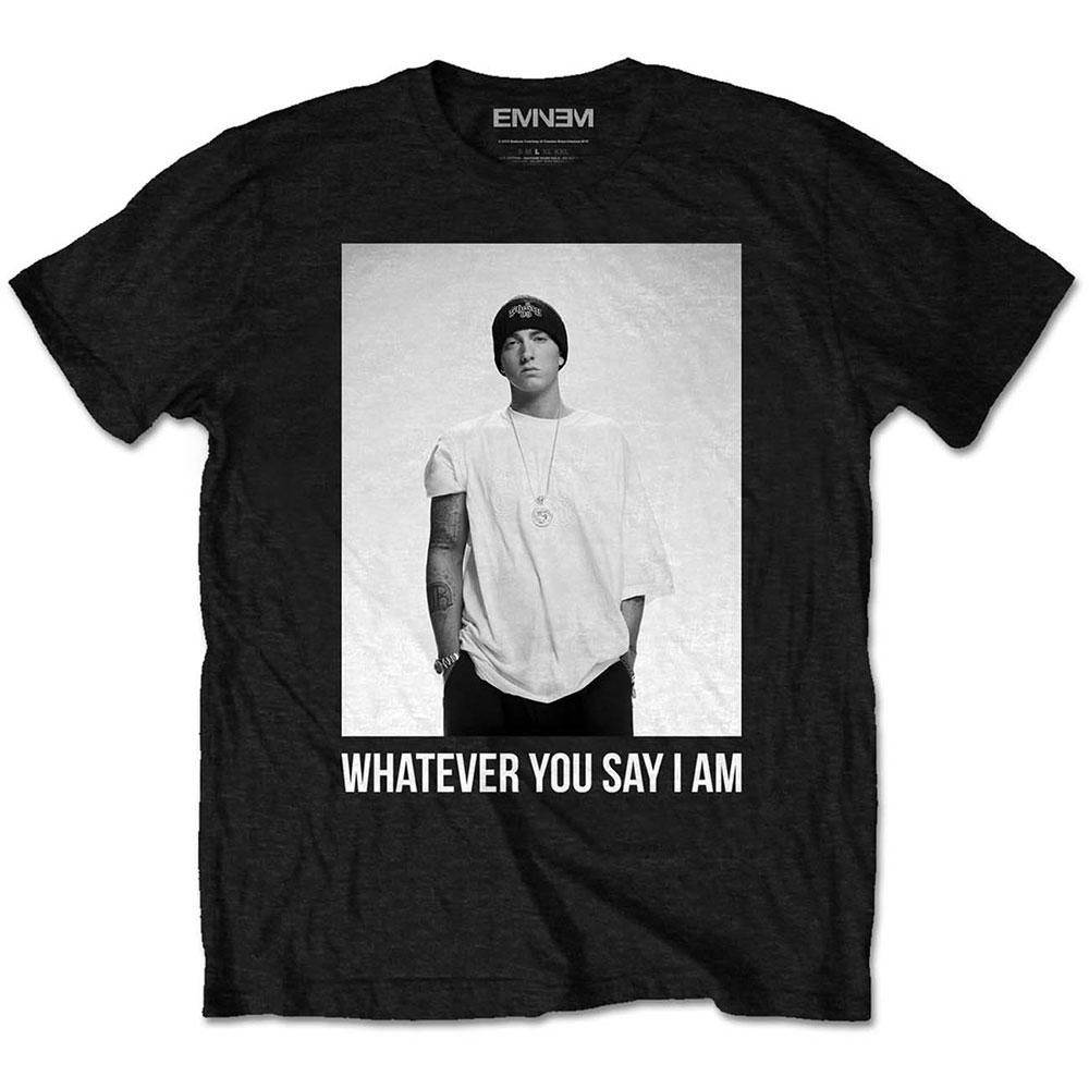 Eminem - Tričko Whatever - Muž, Unisex, Čierna, S