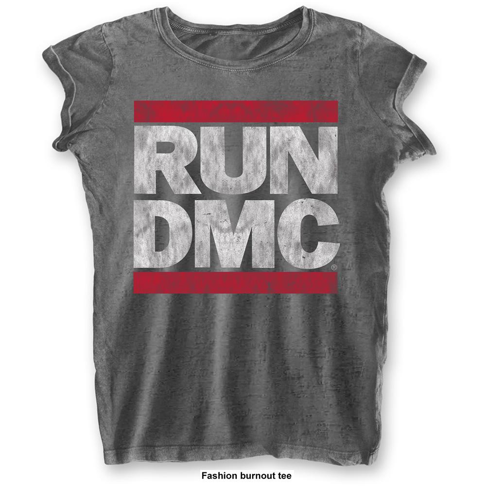 Run-DMC - Tričko DMC Logo - Žena, Šedá, L