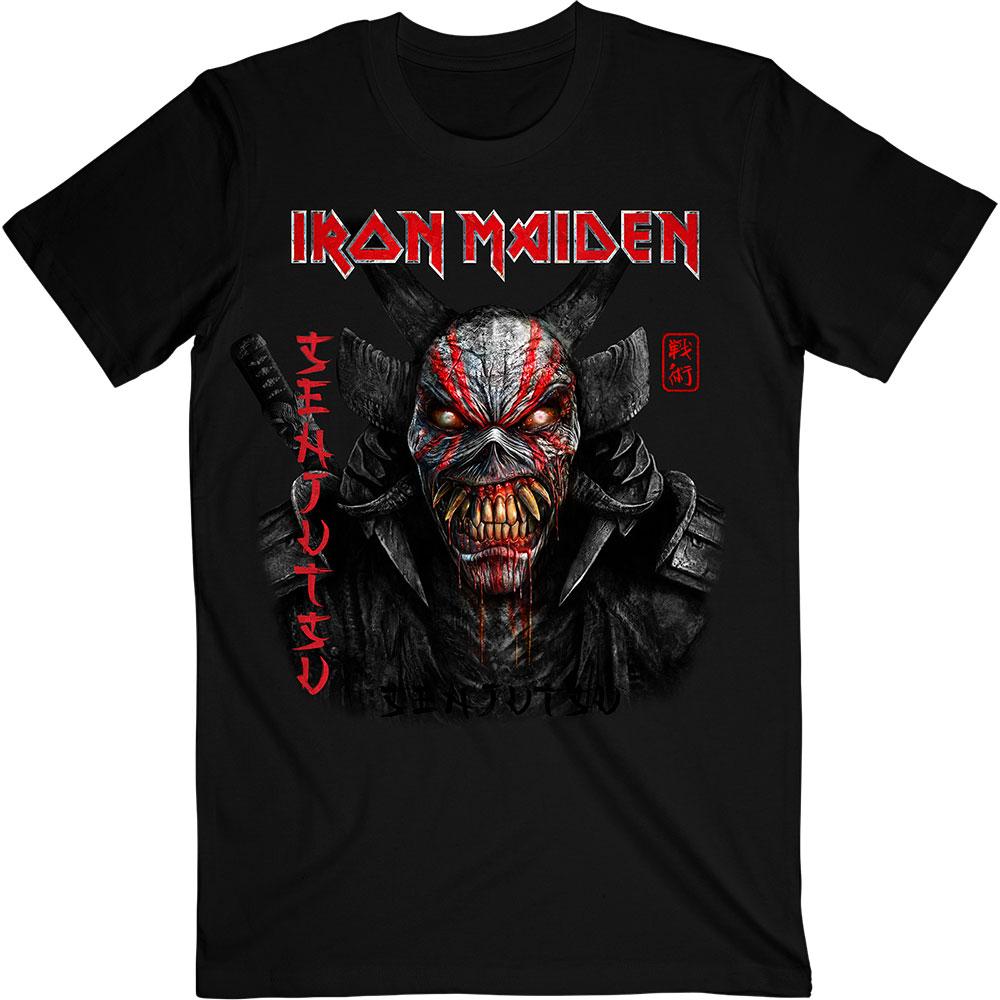 Iron Maiden - Tričko Senjutsu Black Cover Vertical Logo - Muž, Unisex, Čierna, XXL