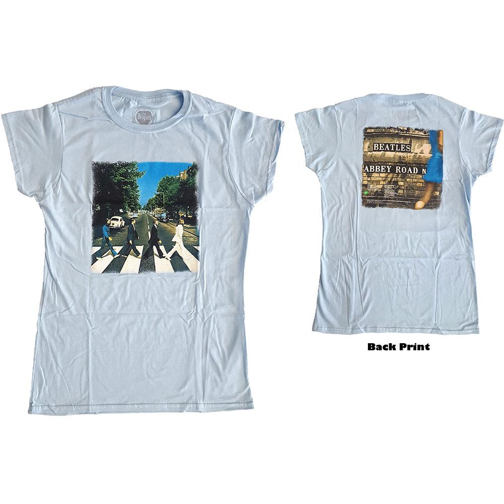 The Beatles - Tričko Abbey Road - Žena, Modrá, S