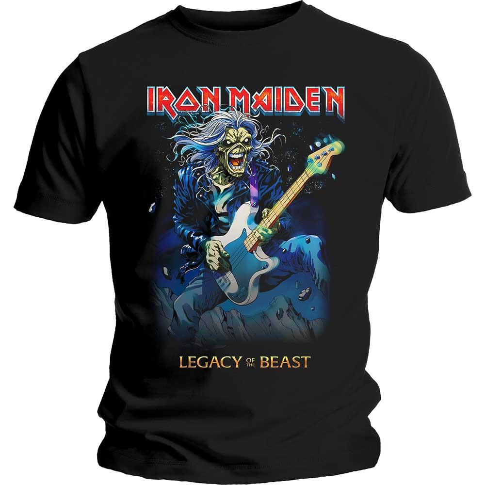 Iron Maiden - Tričko Eddie on Bass - Muž, Unisex, Čierna, L