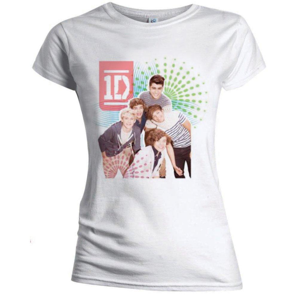 One Direction - Tričko Colour test - Žena, Biela, XL
