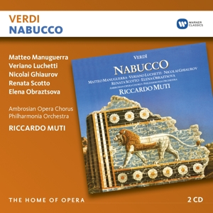 CD MANUGUERRA/LUCCHETTI/MUTI/PHILHARM.ORCH - VERDI: NABUCCO