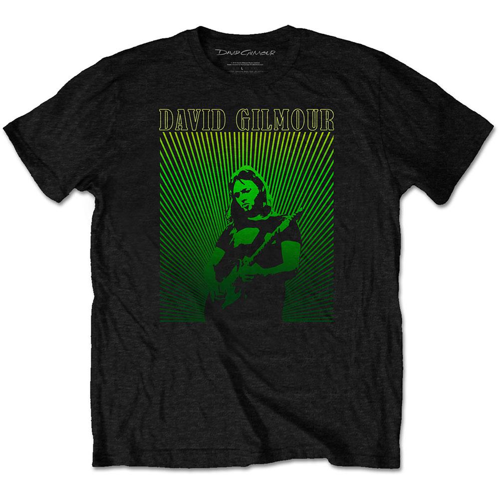 David Gilmour - Tričko Rays Gradient - Muž, Unisex, Čierna, XL