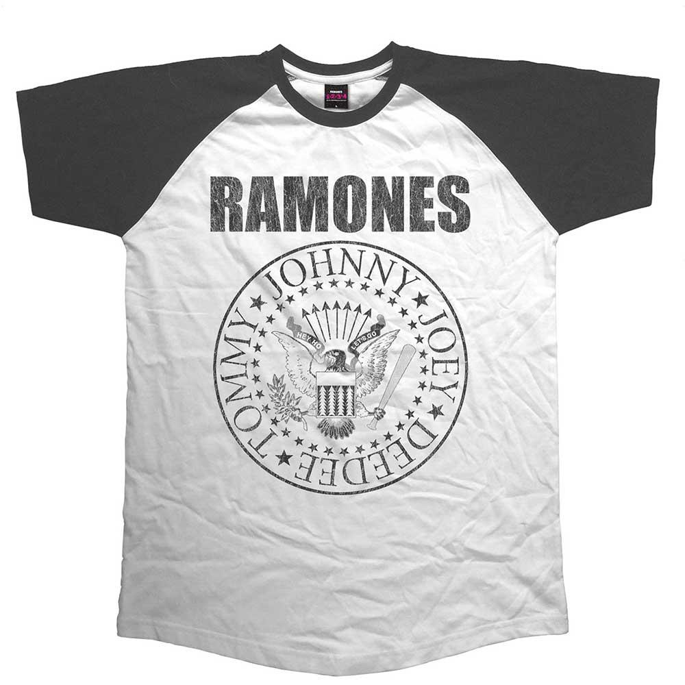 Ramones - Tričko Presidential Seal - Muž, Unisex, Čierna/biela, XXL