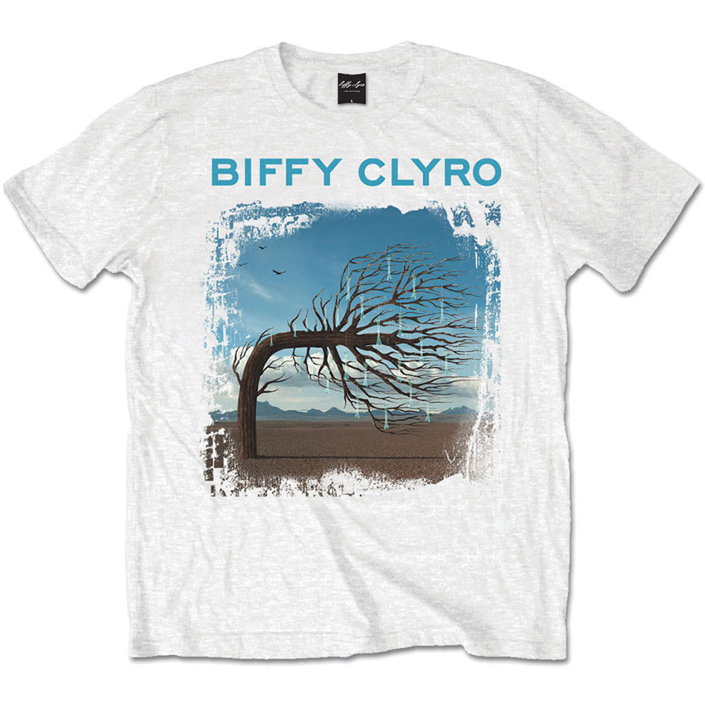 Biffy Clyro - Tričko Opposites White - Muž, Unisex, Biela, XL